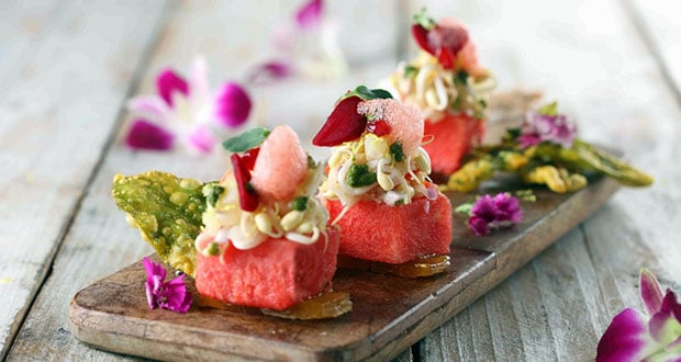 Compressed Melon Sliders