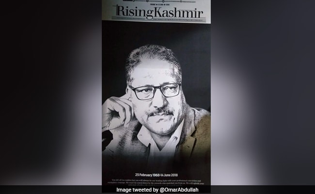 Shujaat Bukhari's Rising Kashmir Pays Moving Tribute In Edition