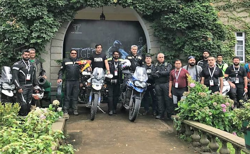 20 Triumph Tiger owners are participating in the Triumph Tiger Trails to Spiti