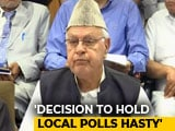 "Video : National Conference Says It Will ""Boycott"" Jammu And Kashmir Rural Polls"
