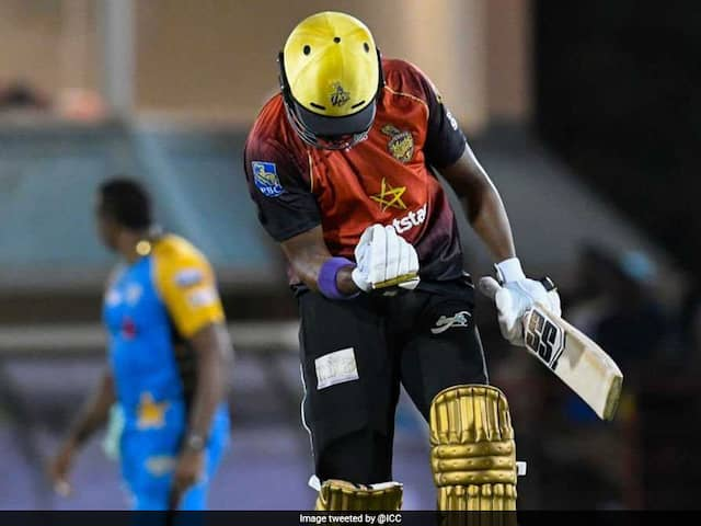 Darren Bravo Hits Kieron Pollard For 5 Sixes In An Over As Trinbago Knight Riders Defeat St Lucia Stars