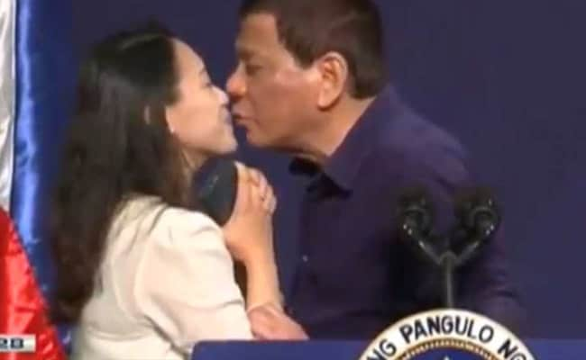 Philippines President Duterte Kisses Woman On Lips, Stirs Controversy