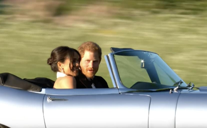 royal couple in jaguar e type zero concept
