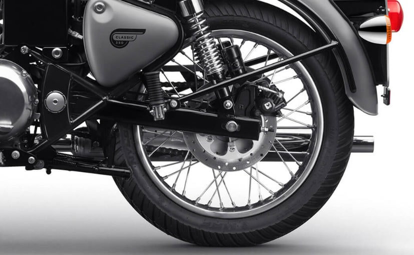 royal enfield classic 350 redditch edition with rear disc brake