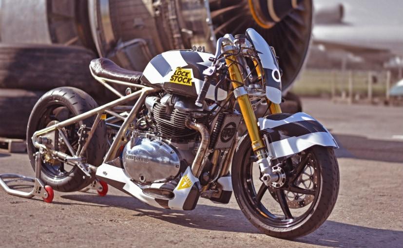 The three custom RE bikes showcased at Wheels and Waves were the Lock Stock, Rohini & the Interceptor