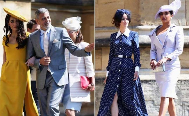 3c27e0aef7be Celeb Style At The Royal Wedding: George And Amal Clooney, Priyanka Chopra  And More