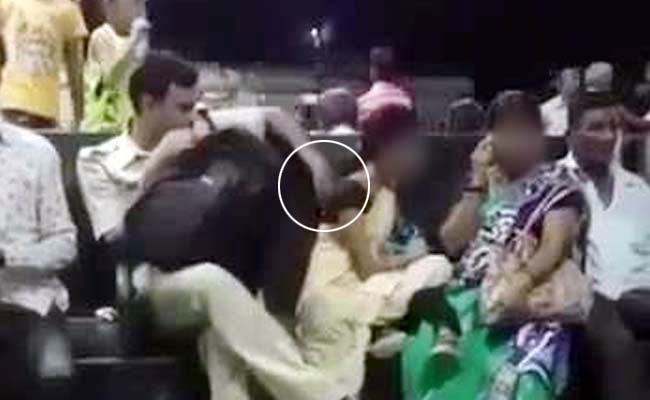 Caught On Video: Railway Cop Trying To Touch Woman At Station, Suspended