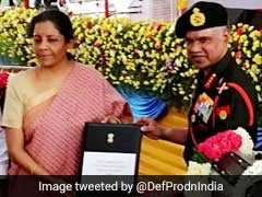 "Nirmala Sitharaman Hands Over ""Made In India"" Engines To Indian Army"