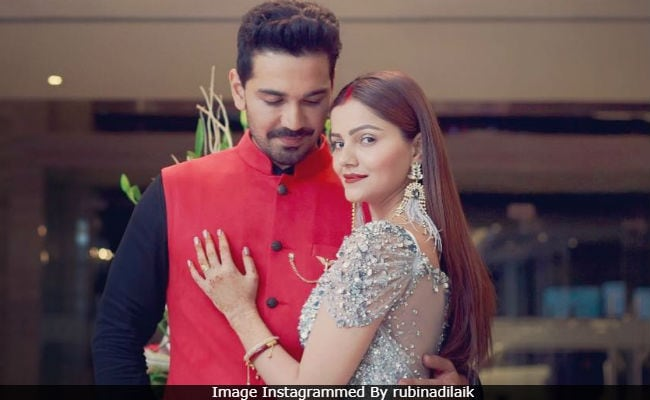 Rubina Dilaik And Abhinav Shukla Host Wedding Reception  See Pics
