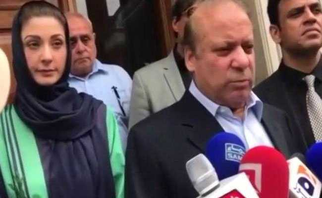 Nawaz Sharif heads to Pakistan to face jail sentence before elections