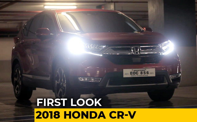 First Look 2018 Honda CR-V