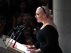 """At John McCain Memorial Service, Daughter Slams Trump's """"Cheap Rhetoric"""""""
