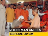 "Video : ""Feeling Blessed"": Cop Kneels, Folds Hands Before Yogi Adityanath"