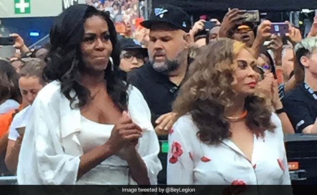 Michelle Obama Spotted At Beyonce And Jay-Z Concert. Watch