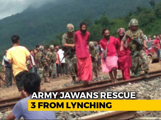 Video : Army Rescues 3 Priests From Rumour-Driven Mob Attack In Assam
