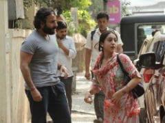Saif Ali Khan Accompanies Daughter Sara To Work. See Pics