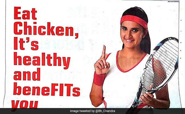 Sania Mirza Asked To Publicly Disassociate From 'Misleading' Poultry Advertisement