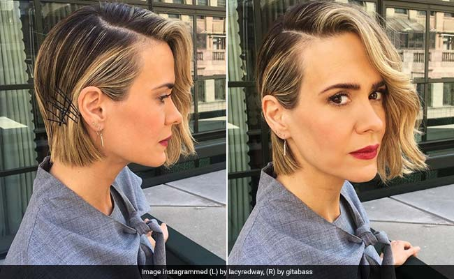 Sarah Paulsons Brilliant Hairstyle Makes The Best Use Of Bobby Pins