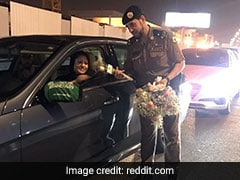 Viral: As Saudi Women Got Behind The Wheel, Cops Welcomed Them With Roses
