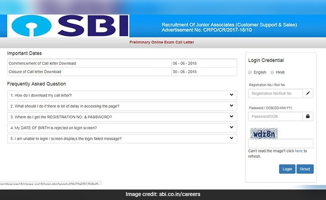SBI Clerk Prelims 2018 Call Letter Released; Download Now From Sbi.co.in/careers