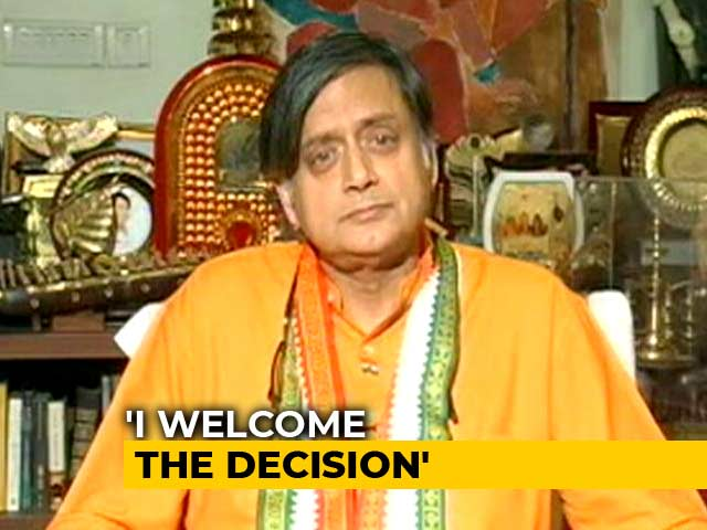 Video : Top Court Did What Parliament Couldn't: Shashi Tharoor On Section 377 Order