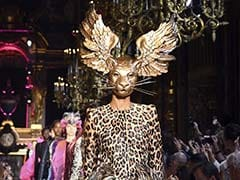 Winged Leopards, Neon Butterflies And More On The Schiaparelli Runway At Paris Couture Week