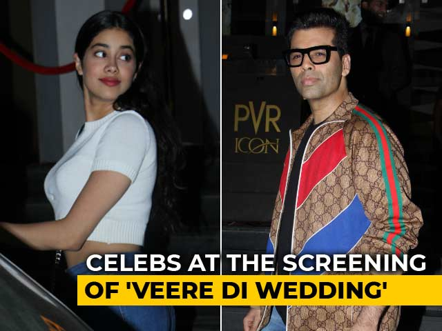 Video : Karan Johar, Janhvi Kapoor & Others At The Screening Of <i>Veere Di Wedding</i>