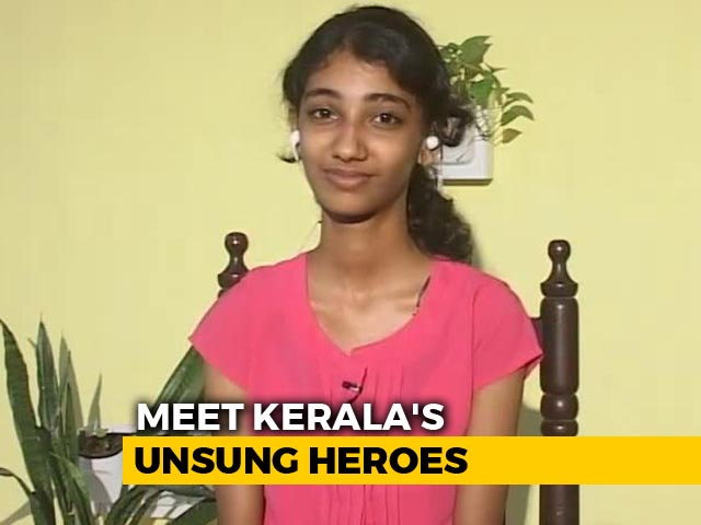 Video: Kerala Teen Who Lost Everything In Floods Plunged Into Relief Work