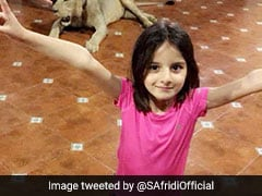 Shahid Afridi's Daughter Celebrates Wicket In Dad's Style With Lion In Background