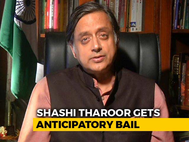 Video : Shashi Tharoor Gets Protection From Arrest, Needs Permission to Fly Out