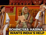 Video : Bangladesh's Sheikh Hasina Holds Silence On Teesta, PM Modi On Rohingya