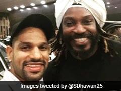Shikhar Dhawan Calls Chris Gayle The 'Jamaican Daler Mehndi', Shares Selfie