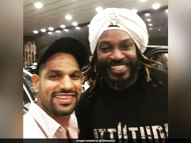 Shikhar Dhawan Calls Chris Gayle The Jamaican Daler Mehndi, Shares Selfie