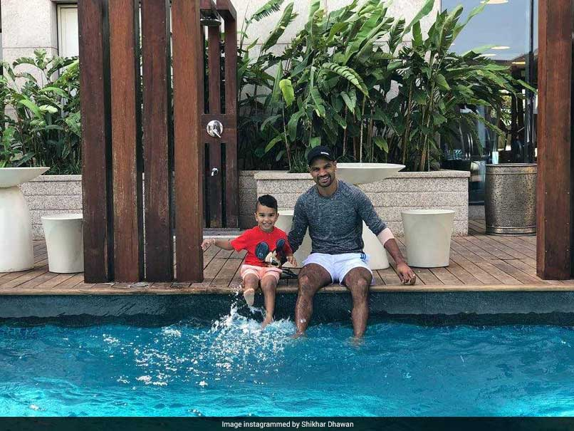 IPL 2018: Shikhar Dhawan, Son Zoravar Turn On