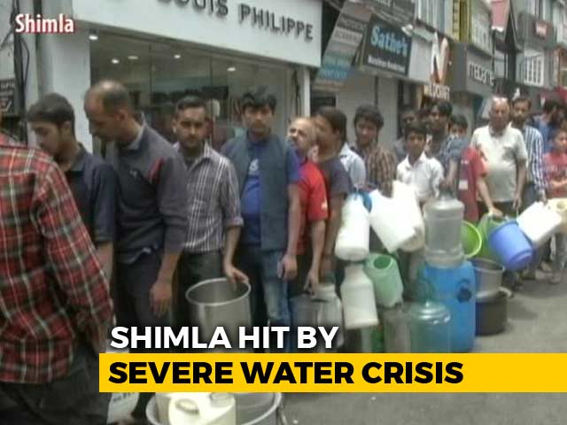 Video : Shimla Water Crisis: Crackdown On Illegal Connections, Tourists Shorten Trips