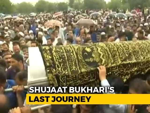 Video : Hundreds At Journalist Shujaat Bukhari's Funeral In Kashmir's Baramulla