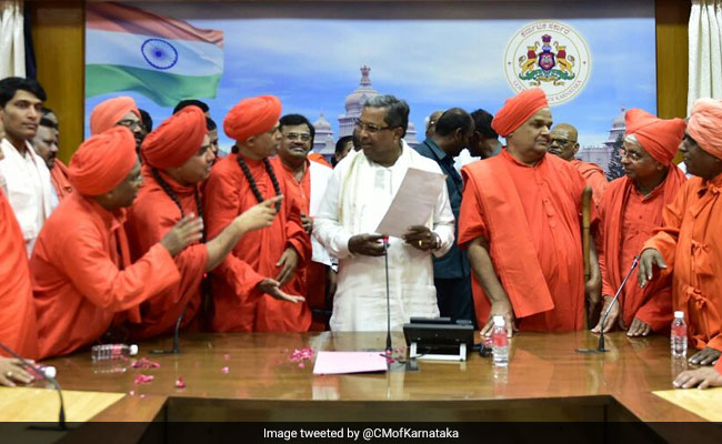 siddaramaiah with lingayat leaders