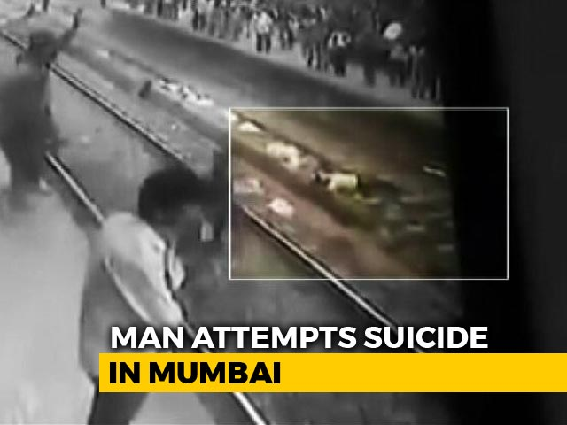 Video : Man Lay On Rail Track In Mumbai. Dramatic Rescue Recorded On CCTV
