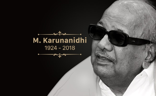 Karunanidhi Death LIVE Updates: DMK प्रमुख और तमिलनाडु के पूर्व सीएम एम करुणानिधि का निधन