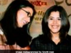 Smriti Irani And Ekta Kapoor Exchange ROFL Wine Comments Over Throwback Pic