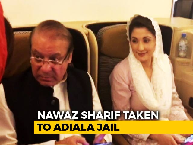 Video : Nawaz Sharif, Daughter Arrested At Lahore Airport, Sent To Jail