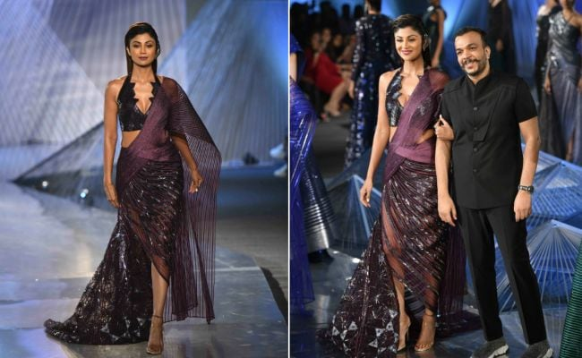 Shilpa Shetty's Crystal-Inspired <i>Saree</i> Is New Age Style Goals