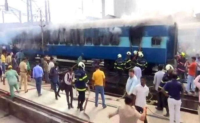 Fire Breaks Out In Spare Coach Of Train At CST Railway Yard In Mumbai