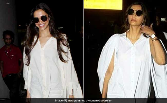 Deepika Padukone And Sonam Kapoor Are Making Oversized Shirts A Travel Essential