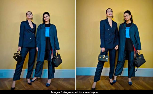 Sonam And Rhea Kapoor Dress Up In Denim For Girls' Night Out In London