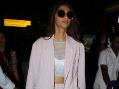 Sonam Kapoor Lights Up Her Way Through The Airport With Cannes Glitter