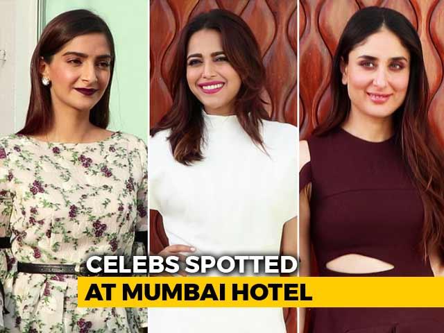 Celeb Spotting: Veere Di Wedding Stars Sonam, Kareena, Swara & Shikha
