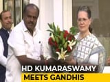Video : Let The Past Be History, Gandhis Said To HD Kumaraswamy At Meet Today