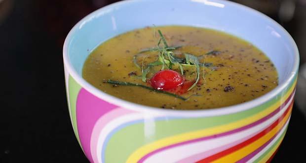 Lentils, Pumpkins and Cranberry Soup