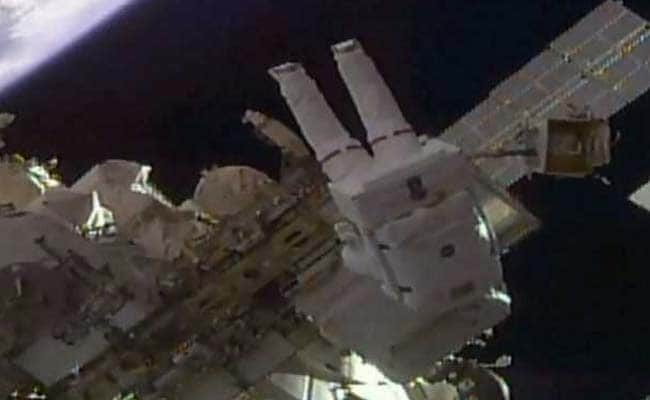 NASA Astronauts Install High-Definition Cameras During Spacewalk